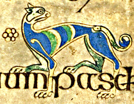Hound from the Book of Kells (7th Century Ireland-Scotland)