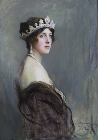 EDITH, MARCHIONESS OF LONDONDERRY, by Philip de Laszlo (1869-1937), in Lady Londonderry's Sitting Room at Mount Stewart House, Co Down, Northern Ireland