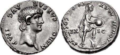 Silver Denarius Nero