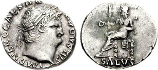 Silver Denarius NeroAD66-67