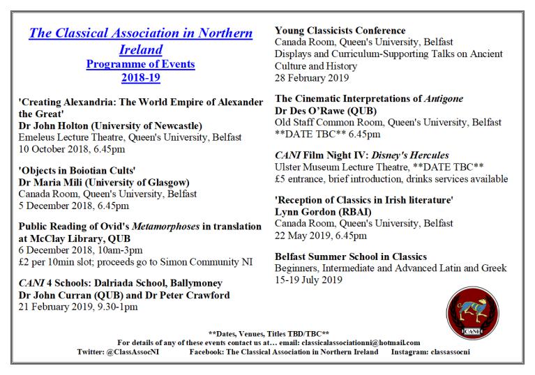 2018-19 Programme